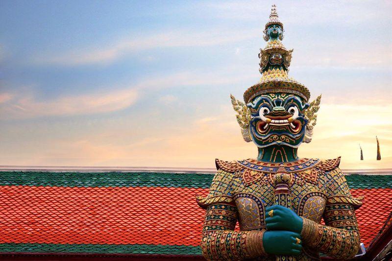 """""""Thotsakan"""" Wat Phra Keaw ,Thailand. วัดพระศรีรัตนศาสดาราม วัดพระแก้ว Wat Phra Kaew Temple Thailand Thotsakan"""