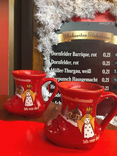 Germany Glintwine Christmas Decoration Christmastime Holiday Text Cup Mug Western Script No People Still Life Holiday Moments Food And Drink