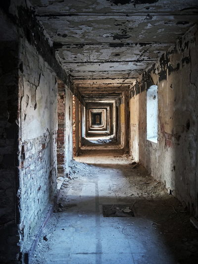 Abandoned Architecture Built Structure Corridor Day Indoors  Lost Plaxc No People