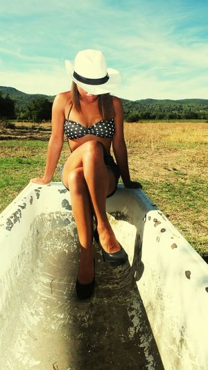 Enjoying Life Cheese! Beautiful ♥ Portrait People Exploring New Ground Cowgirl Nature Dreams