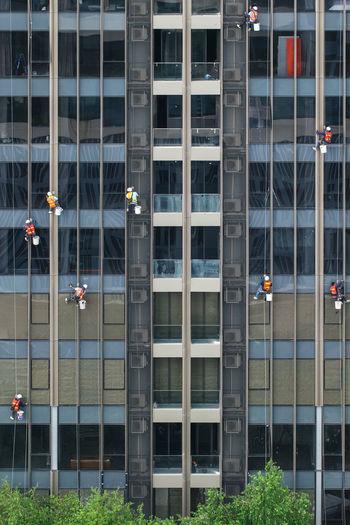 Full frame shot of glass building