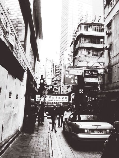 Hong Kong Bygone Times Modern Life Blac&white
