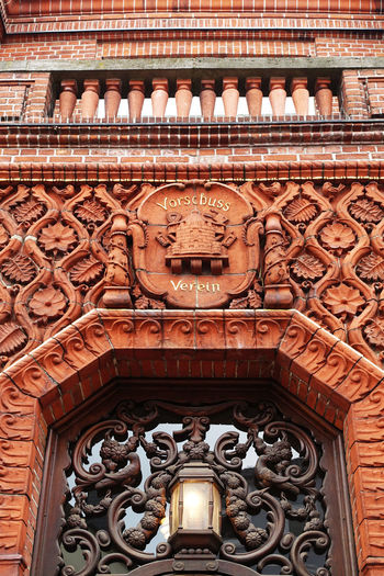 Architecture Bank Built Structure Fassade Old Ornament Pattern