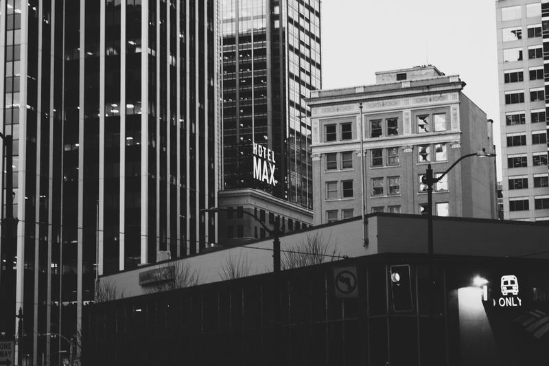 Max Seattle Built Structure City Building Exterior Architecture No People Outdoors Balck And White Max Noon Skyscraper Streetphotography Cityscape Seattle, Washington Seattle Northwest EyEmNewHere The City Light