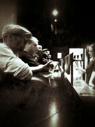 Thirsty men waiting... Monochrome Light And Shadow Beer BARkinson