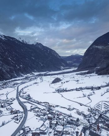 The valley of Ötz, covered in snow Sunset Sunset_collection Sunsets Dji DJI Mavic Pro DJI X Eyeem EyeEm Selects Snow Mountain Winter Cold Temperature Scenics Beauty In Nature Mountain Range Nature Landscape Pinaceae No People Snowcapped Mountain Snowing Outdoors Day