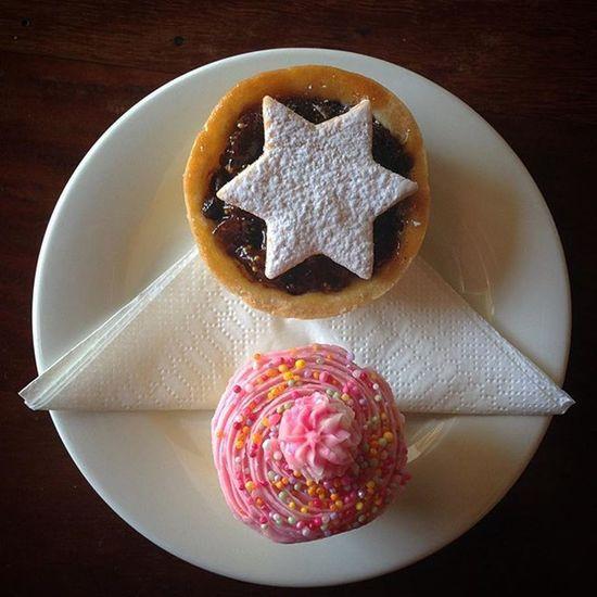 Fruit mince tart and cupcakes morning business meeting fare :-) Cupcake Fruit Mince Tart Cake Pastry Pastrylife Instafood Instacakes Brisbane Australia Cafe Cafeculture Food Drink Foodart