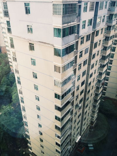 Looking down at an apartment complex in changsha,china Changsha Apartment Apartment Complex China Building Exterior Looking Down View View From Above Apartment Buildings