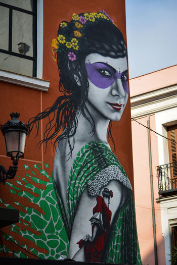 Antifaz Architecture Art Callejeando City Creativity Front View Graffiti Madrid Spain Mask Mujer Streetphotography Woman