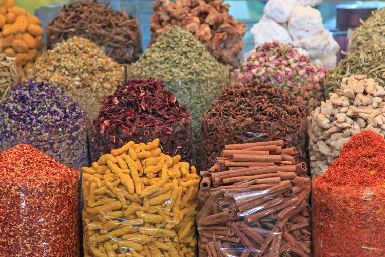 Full Frame Shot Of Spices For Sale At Market