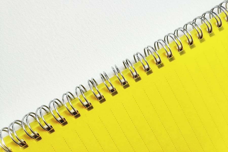 White Background Yellow Paper Studio Shot In A Row Close-up Spiral Notebook School Supplies Page Knowledge Diary Sketch Pad To Do List Note Pad Workbook Ring Binder Office Supply The Still Life Photographer - 2018 EyeEm Awards 10