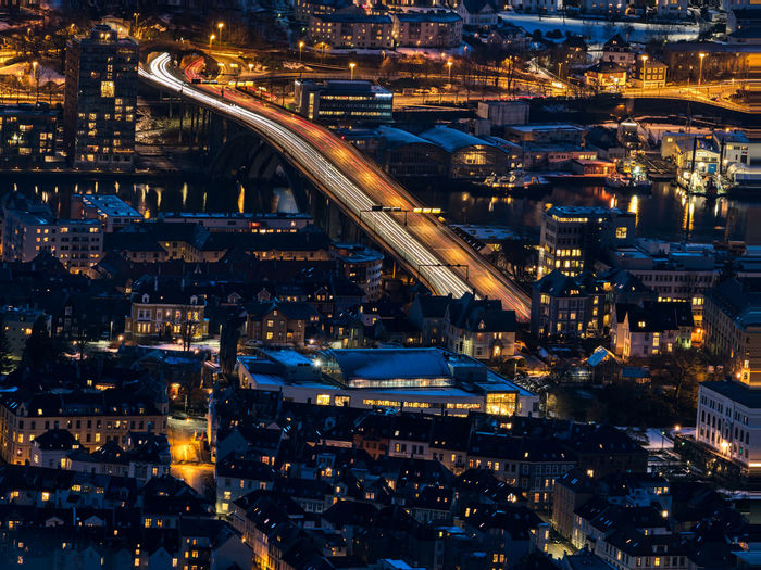 City lights City Architecture Building Exterior Cityscape Built Structure Illuminated Night Crowded Aerial View Crowd High Angle View Building City Life Residential District Nature Outdoors Transportation Connection Long Exposure Bridge