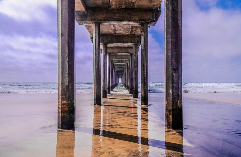 Old Pier In Usa