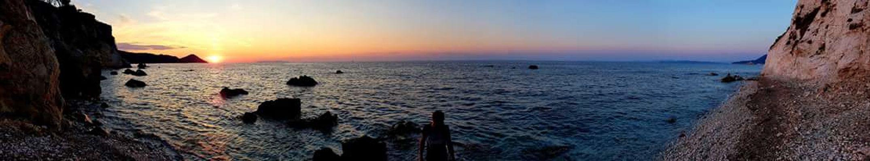 Summer Romantic Sky Secret Places Elba Island  Elbaisland Handycam Water Sunset Panoramic Sky Landscape Cloud - Sky Sun Horizon Over Water Ocean Sea Seascape Coast Shining Silhouette Wave Sunbeam