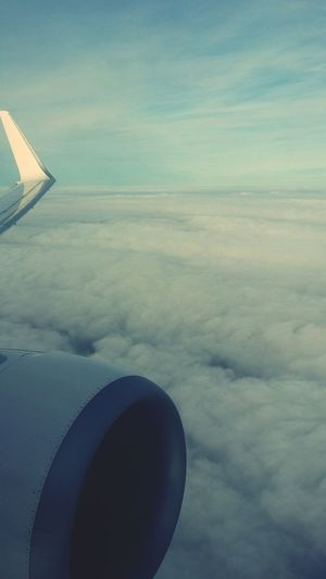 Paradise ✈? From The Plane Window Sky And Clouds Paradise Comebackhome