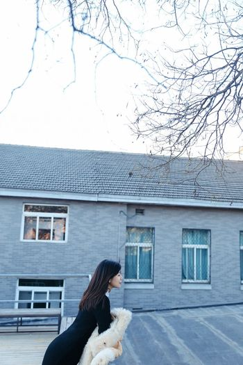 Rooftop Built Structure One Person Building Exterior Building Real People Day