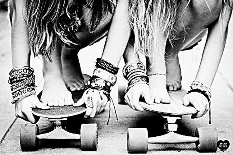 Black & White Blackandwhite Skateboarding Lifestyle Enjoying Life Skategirls Street Girls Hello Followers Iamback