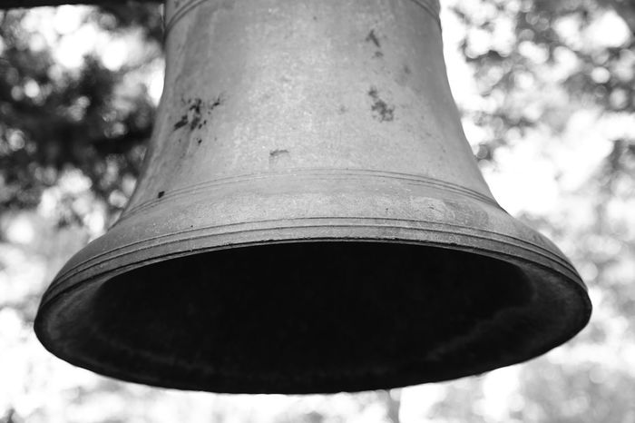 Old bell Single Object Focus On Foreground Day No People Outdoors Close-up Wind Instrument