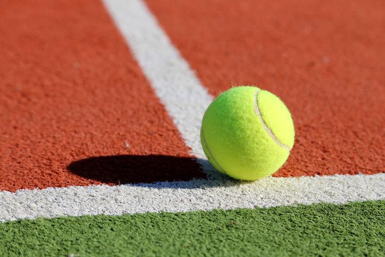 Close-up of tennis ball