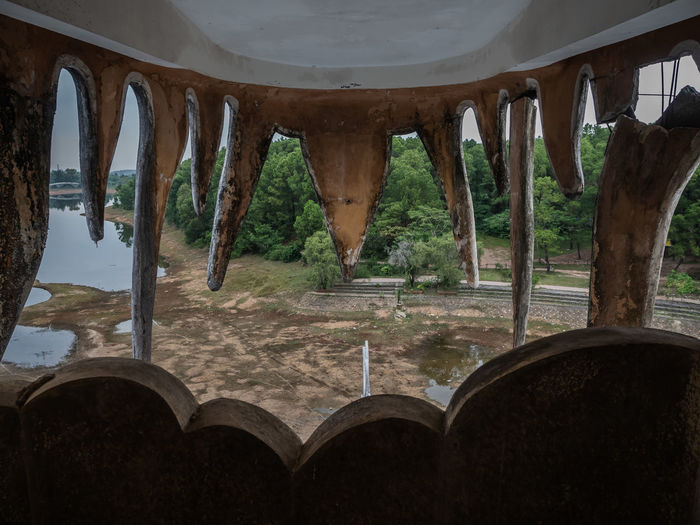 Abandoned Water Park near Hue Architecture Built Structure No People Indoors  Water Day Nature The Past History Building Low Angle View Old Architectural Column Wood - Material Travel Destinations Arch Abandoned Transportation Ceiling Urbex
