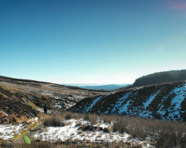 Exploring. .. горы Vista Mountains Nature Walking River Severn Hafren Hiking Frost Winter Wales Snow Landscape пейзаж