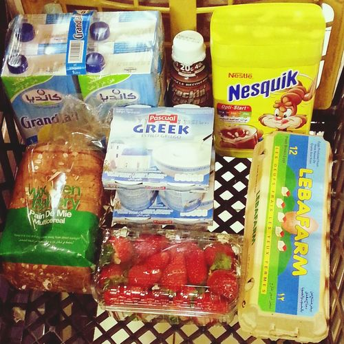 You can tell a lot about a person by what's in their shopping cart Foodlife Groceryshopping Healthyliving DairyGoods Nesquik Lifestyle Healthkick  Freshfruit ProProtein Proteinpacked