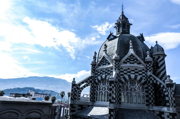 Travel Colombia Medellín Museum Art Architecture Sky Sky And Clouds Clouds Blue Design Castle
