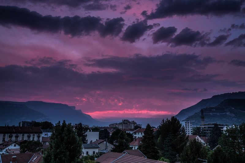 Grenoble at the sunset Grenoble France French Alps Sunset And Clouds  Chartreuse  Vercors Alps Landscape Photography City Life Cityscape City Sky Cloud - Sky Beauty In Nature Scenics - Nature Mountain Architecture Nature Sunset Landscape Mountain Range No People Building Exterior Dramatic Sky Built Structure
