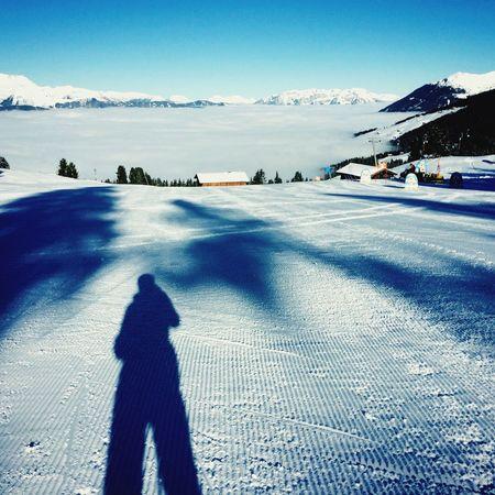 Skifahren Skifoan Zillertal Schnee Schneelandschaft über Den Wolken Wintertime