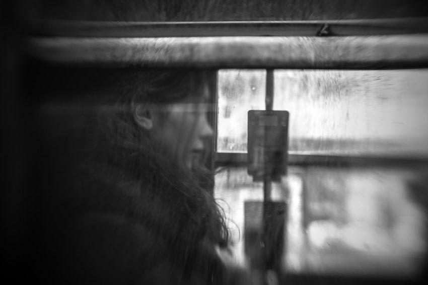 Behind Window Streetphotography Transportation Window Woman