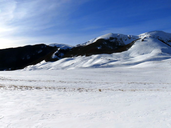 Winter mountain panorama, abruzzo, italy
