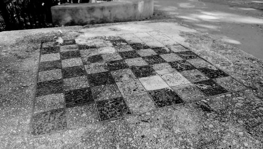 Chess Chess Board Chessboard Chessboard Pattern Outdoors Blackandwhite Up for a game?