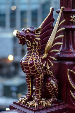 Architectural Column Architectural Feature Art Creativity Fictional Character Focus On Foreground History Holborn Viaduct London Man Made Object No People Sculpture Statue