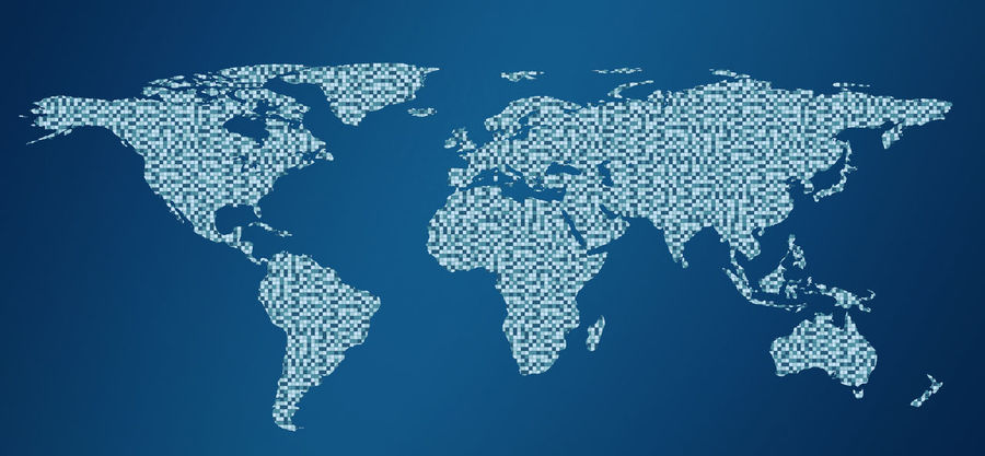 Drawing outline World map isolated on white background. infographics, illustration Business Earth Map Abstract Blue Close-up Continent Global Communications Globe Illustration No People Pattern Water World