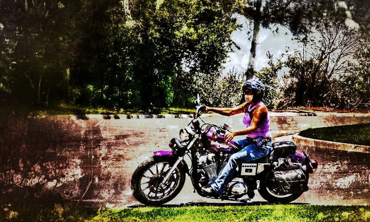Ride it girl the day is just beginning The Street Photographer - 2016 EyeEm Awards Enjoying Life Ocean Beach San Diego Life Is A Journey Special Effects Street Journalism Street Photography Motorcycle Photography Motorcycle Lover Women Riding A Motorcycle Bikeswithoutlimits Biker Lady