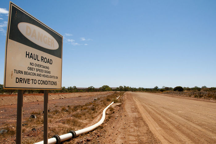 Mining Haul Road Danger Sign Road Haul Road Mine Mining Road Sign Warning Sign