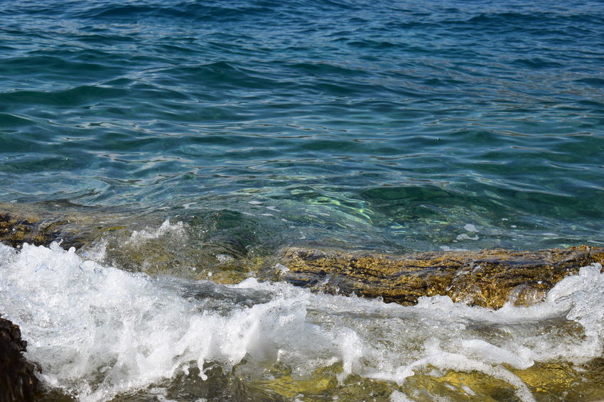Beauty In Nature Clear Sea Clearsea Croatia Croatiafulloflife Day EyeEm Nature Lover EyeEmNewHere High Angle View Motion Nature Nature_collection Naturelovers No People Outdoors Sea Stones & Water Travel Destinations Water Wave Waves Waves, Ocean, Nature
