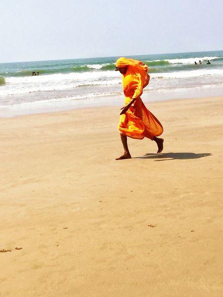 Beach Sea Sand Nature Water Orange India Sky Gokarna Karnataka Indian Man Travel Travel Photography Backpacker Baba