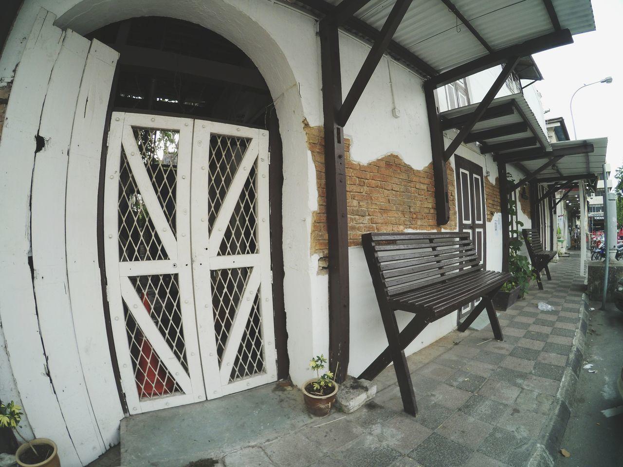 window, door, entrance, day, architecture, porch, indoors, built structure, no people, chair, open door, building exterior