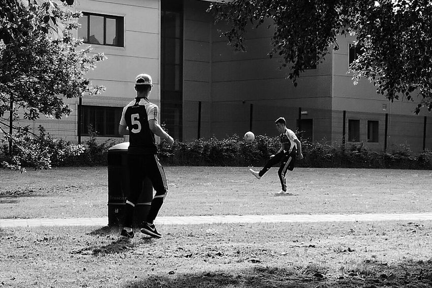 Football in the park. Ireland. The Essence Of Summer Football Fever Football Outdoors Showcase June Home Is Where The Art Is Monochrome Photography