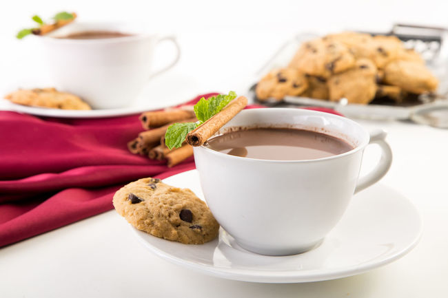 Mexican Spicy Chocolate Beverage Breakfast Chocolate Cinnamon Close-up Coffee Coffee - Drink Coffee Cup Coklat Cookies Cup Drink Freshness Minuman No People Ready-to-eat Red Color Refreshment Served Serving Size Still Life White