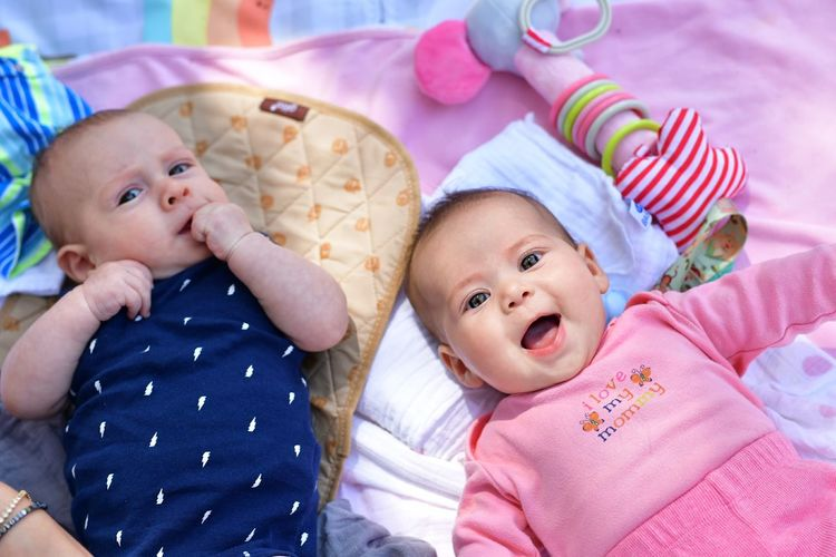 Baby friends boy and girl Portrait Child Children Only Child Love Infant Babygirl Baby Forest Happiness Happy Family Pink Picnic EyeEm Selects Baby Boy Babygirl Baby ❤ Twins Bedroom Child Togetherness Bed Looking At Camera Domestic Life Lying Down Cute Sibling Family Bonds