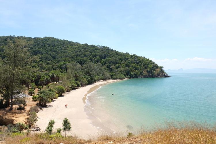 koh lanta Holiday Attractions Lanta Island Landscape Seascape Tree Water Sea Beach Sand Blue Mountain Summer Tropical Climate Island