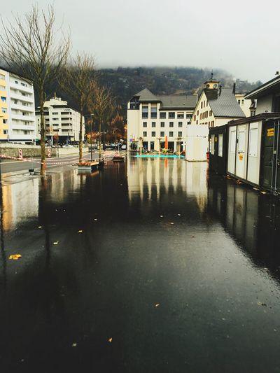 Reflection! Brig Brig-glis City IPhoneography