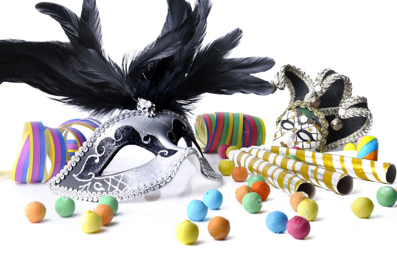 Art And Craft Carnaval Celebration Close-up Creativity Disguise Festive, Large Group Of Objects Mask Mask - Disguise Masquerade, Multi Colored No People Party Personal Accessory Representation Still Life Studio Shot White Background First Eyeem Photo