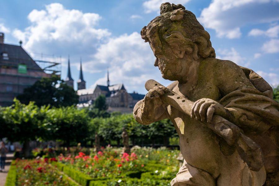 Rosengarten Garden Rose Gardens Bamberg  Michaelsberg Bavaria Bayern Germany Deutschland Oberfranken UNESCO World Heritage Site Michaelsberg Abtei Roses Church Unesco World Heritage