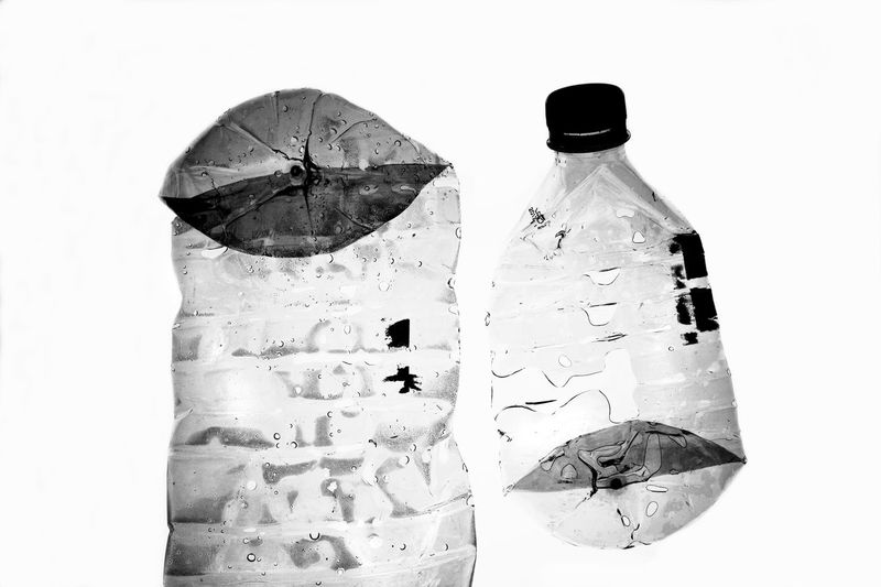 Black And White Photography Environment Horizontal No People Plastic Plastic Bottle Pollution In My World Rubbish