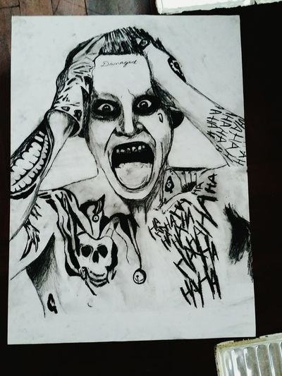 Human Representation Facial Expression Representation Creativity Illustration TheJokerQuotes Thejoker SuicideSquad Suicidesquadmovie Jared Leto Charcoal charcoal #skull #art #artist #sketch #tattoo #tattooed #ink #inked #pencil #doodle #skin #skeleton #tattooedup #color #colour #cooltattoo #picture #picture #bones #skull art #wallart #skulltattoo skullhead skullaholic