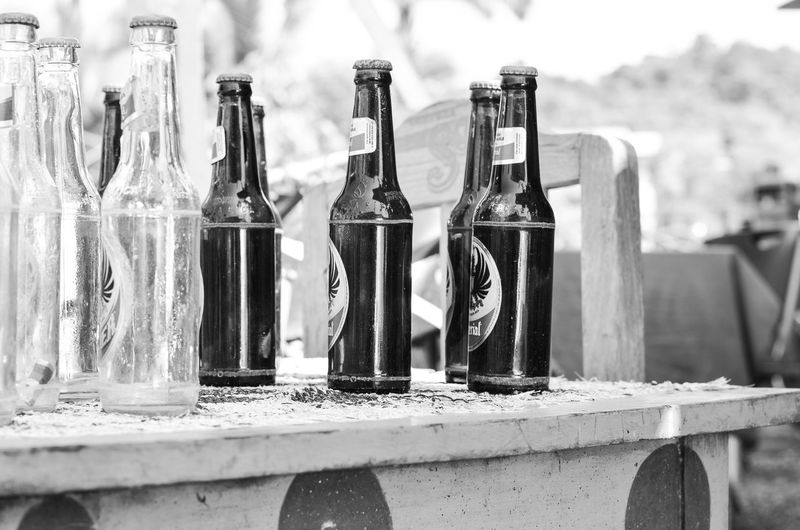 Arrangement Beer Beer Bottles Beer Checkers Close Up Focus On Foreground Imperial Beer Large Group Of Objects No People Outside Side By Side Still Life