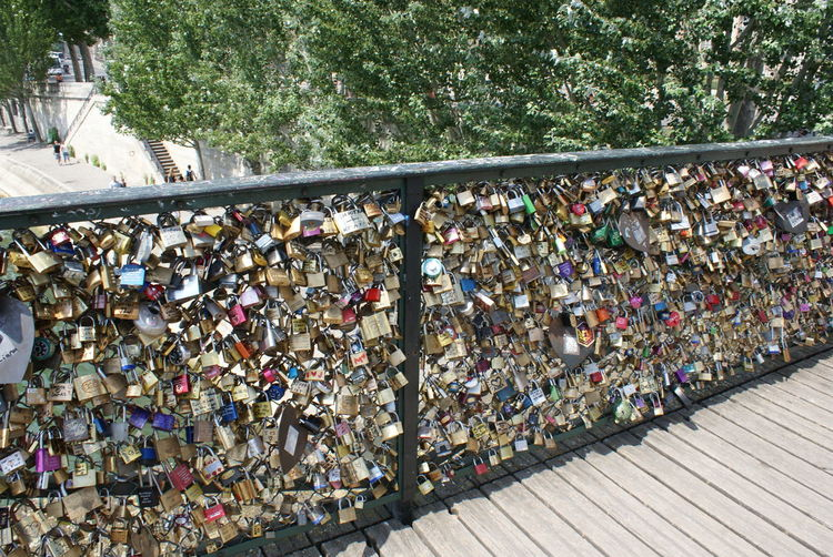 Abundance Bridge Bridge - Man Made Structure Brigdeovertroutwater Close-up Day Large Group Of Objects Lock Locks Locks Of Love Love Love Lock Metal No People Outdoors Padlock Protection Railing Security Tree